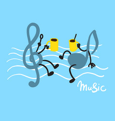 Music and coffee vector