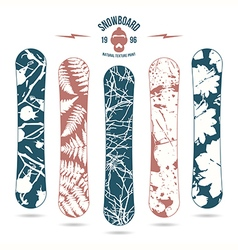 Natural texture print for snowboard vector image vector image