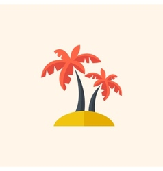 Palm travel flat icon vector