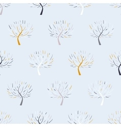 Pattern with colorful trees vector