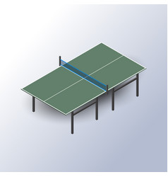 ping pong table is an isometric vector image vector image
