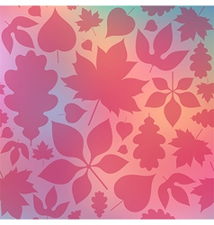 Red leaves on blurred background vector image