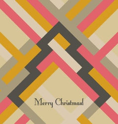 Retro styled Christmas greeting card vector image