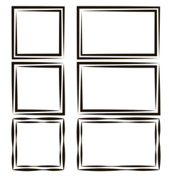 set frames for picture photos empty speech vector image vector image