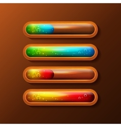 Set of progress bars with liquid filling vector