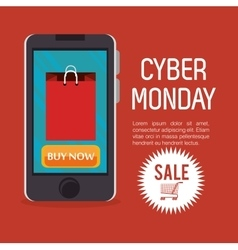 Smartphone cyber monday sale buy now vector
