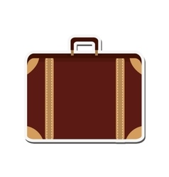suitcase baggage luggage design vector image vector image