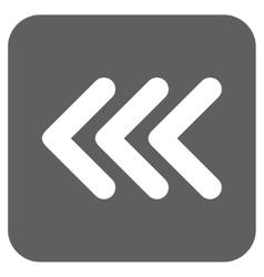 Triple arrowhead left flat squared icon vector