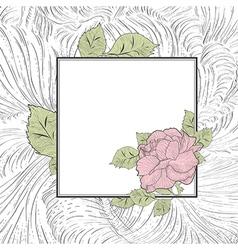 Vintage Rose Flower Frame vector image vector image