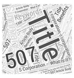 S corporation what is it word cloud concept vector