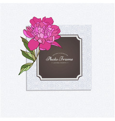 photo frame with flower vector image