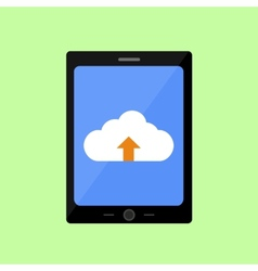 Flat style touch pad with cloud downloading vector