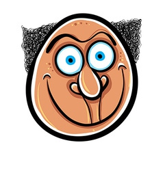 Foolish cartoon face vector
