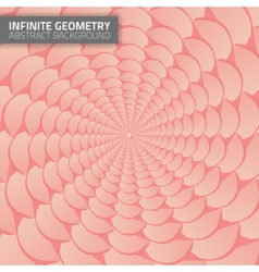 Infinite geometry fractal background vector