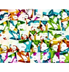 Mega collection of colo waves abstract backgrounds vector image