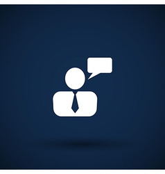 3d man businessman blank speech bubble vector image