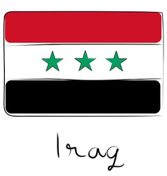 Iraq flag doodle vector image