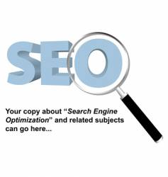 Seo search engine optimized logo vector