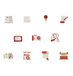 Flat simple icons for media publishing vector