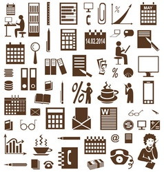 Secretary and accountant icons on white vector