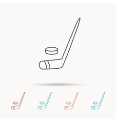 Ice hockey icon professional sport game sign vector