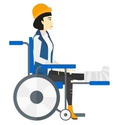 Patient sitting in wheelchair vector