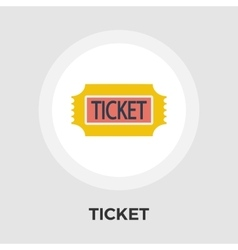 Ticket flat icon vector