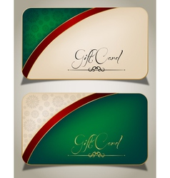 Abstract Gift Card vector image vector image