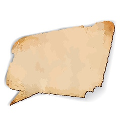Aged speech bubble vector image