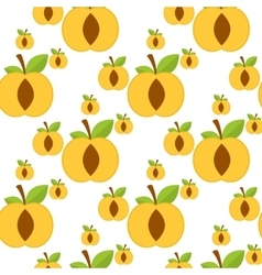 Apricot seamless background vector