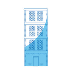 Building home brick construction architecture blue vector