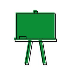 Chalkboard school isolated icon vector