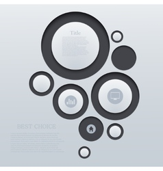 circle abstract background Eps10 vector image