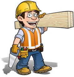 Construction Worker Carpenter vector image