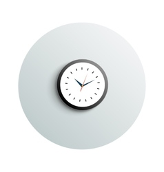 Detailed modern round office watch business vector image vector image