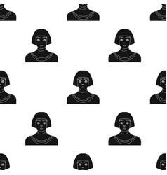 Egyptian man icon in black style isolated on white vector
