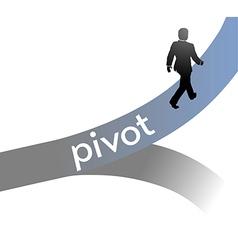 Entrepreneur pivot lean startup strategy vector image vector image