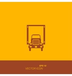 Freight car icon in flat style vector