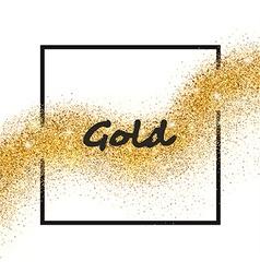 Golden sparkling falling star vector