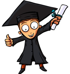 graduation men vector image
