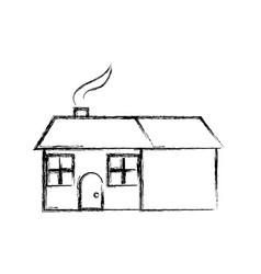 House home residence architecture chimney smoke vector