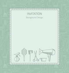 Invitation hairdressing icons vector image