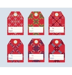 Knitted sweater gift tags 1 vector