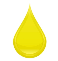 power drop oil sign yellow color vector image vector image
