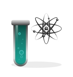 Science icon laboratory concept Flat vector image