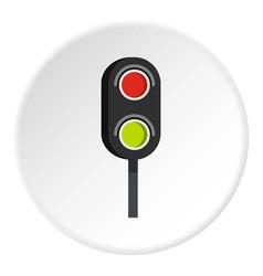 semaphore trafficlight icon circle vector image