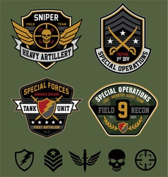 Special ops military patches vector