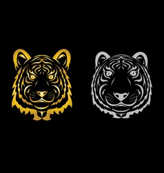 Tiger head silhouette vector image vector image