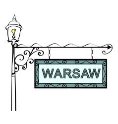 Warsaw retro pointer lamppost vector