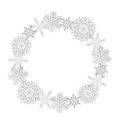 Winter snowflakes wreath vector